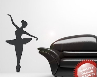 Ballet dancer vinyl wall decal sticker