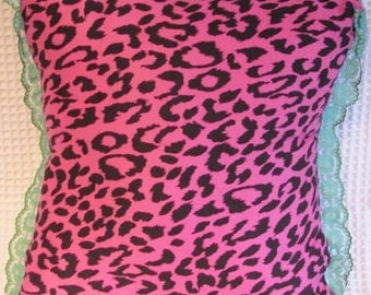 Pink Leopard print Cushion