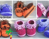 Crochet Pattern for Baby Booties Shoes Slippers, Loop Booties for Babies, PDF 12-052 INSTANT DOWNLOAD