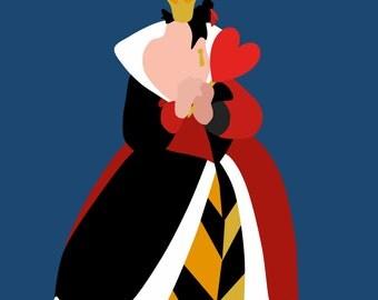 Queen of Hearts Minimalist Poster
