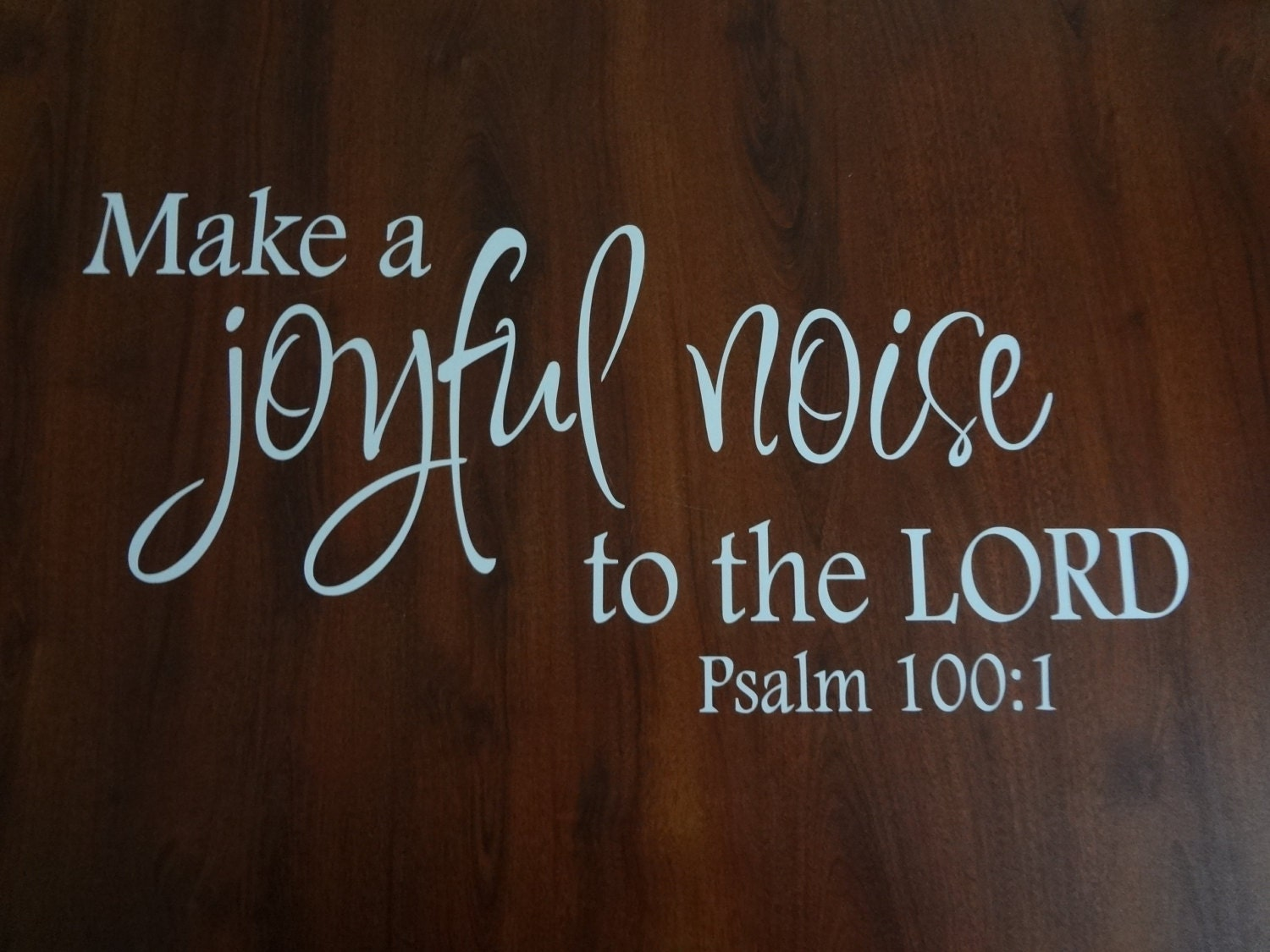 Wall Decal Make A Joyful Noise To The Lord Music Room Piano