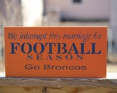 This is a 9x18 Denver broncos sign.