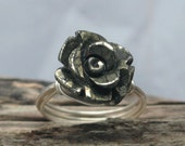 pyrite ring,flower ring,handcrafted ring,handmade ring,sterling silver jewelry,gemstone jewelry,gems ring-size 7.75