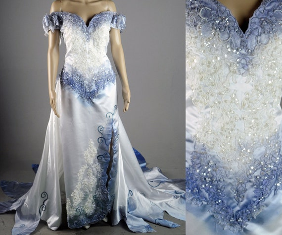 Tim Burton Corpse Bride Wedding Dress Gown Costume Halloween