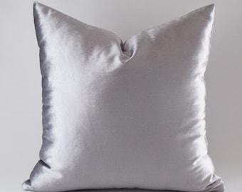 Silver Velvet 12,14,16,18,20,22,24,26,28,30 inches Silver Velvet Pillow Covers, Decorative Velvet Pillows, Throw Pillows