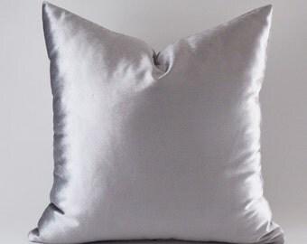 Silver Velvet Pillow Covers, Decorative Velvet Pillows, Throw Pillows,12,14,16,18,20,22,24,26,28,30 inch