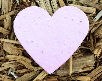 "10 Heart Plantable Seeded Paper Shape Favors 2.6"" x 3"", Available in 39 Colors"