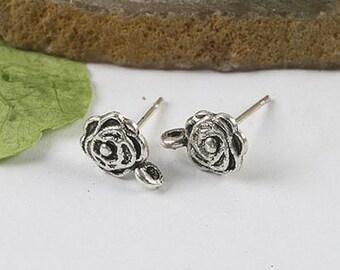 20Pcs 14mm Tibetan silver Earring Post FINDING h0298
