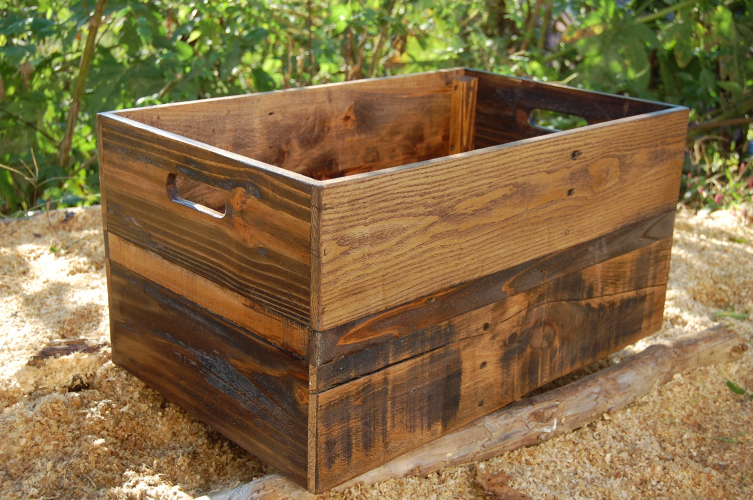 Large Provincial Wood Crate Toy Storage Reclaimed Wood