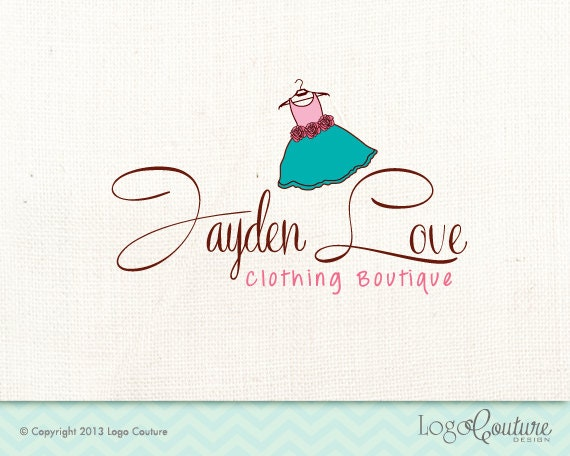 premade clothing boutique logo your name jaden love boutique