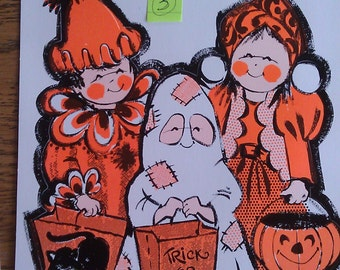 Peck vintage Halloween cut outs never used, sold PER sheet