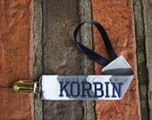 Boy Pacifier Clip, Personalized Binky Holder, Chevron and Navy