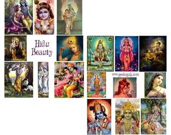 Hindu Beauty Digital Collage Set