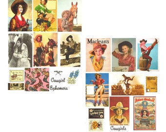 SALE****Cowgirls Digital Collage Set******SALE