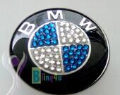 Emblem for BMW steering wheel with Swarovski crystal elements 45mm