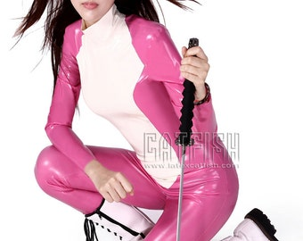 Tight  Woman Latex Catsuit, Latex Clothing