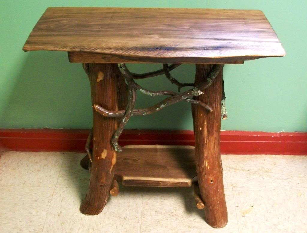 handmade end tables rustic handmade end table log cabin adirondack furniture by j 8592