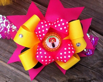 Headband lala loopsy birthday matching bow