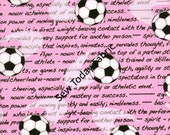 Soccer/Futbol Girls Pink - All Stars Collection - Benartex 5930-22 (sold by the 1/2 yard)