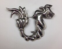 Quetzacoatl a serpent in Sterling Silver early Mexican 1930 Mark Silver Mexico