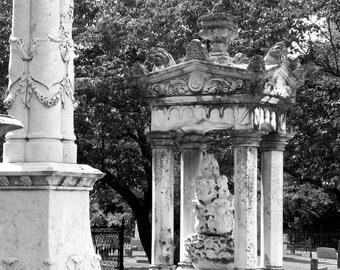 Granite monument in Holly Springs, MS, Fine Art Photography, Historical Photographs, Cemetery