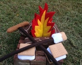 RESERVED- Large Campfire Play Set with Extras