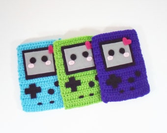Crochet Gameboy Pouch Kawaii Kollection  (Made to Order - Custom Colors)