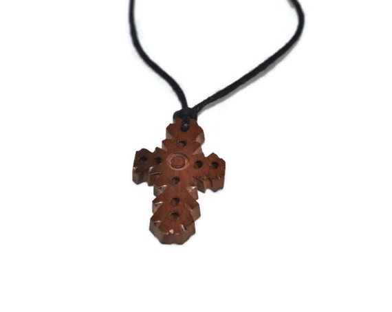 Kamagong Wood Necklace- Cross design