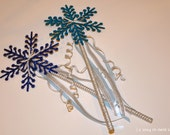 glitter snowflake princess wand - perfect for frozen birthday parties!