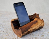 Wooden iPhone Stand Wooden iPhone Docking station Recycled wood iPhone Dock Oak iPhone stand