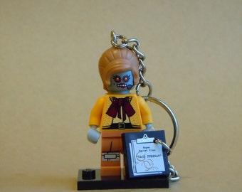 The LEGO Movie Velma Staplebot Minifigure Keychain