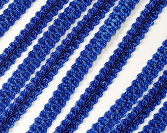 "3/8"" Wide Royal Blue Braided French Gimp Trim Ribbon Scrapbooking Sapphire Blue 25 Yards"