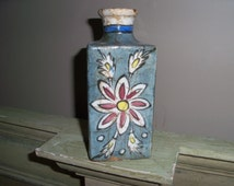Absolutely Beautiful Antique Persian Stoneware Bottle