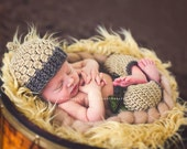 Newborn {My Little Acorn} Acorn Beanie & Pants with Leaf Belt, Newborn Photography Prop, Fall Photography Prop