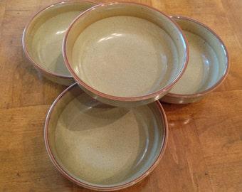 "Bob Van Allen Mikasa ""Sandstone"" Set of Four Cereal Bowls"