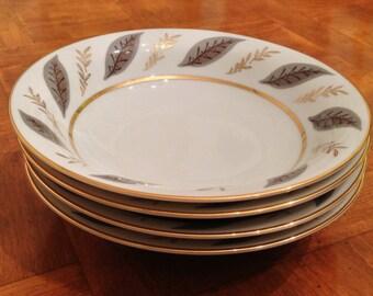 "Noritake ""Doris"" Set of Four Soup Bowls"