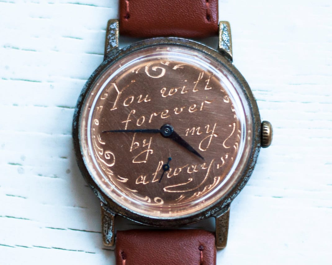 Vintage watch personalized watch engraved watch by sovietwatches for Watches engraved