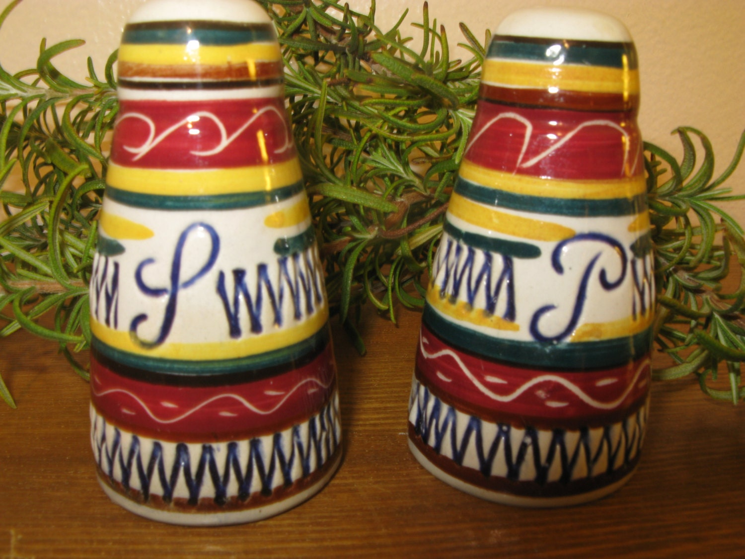 Colorful vintage salt and pepper shakers made in germany Colorful salt and pepper shakers