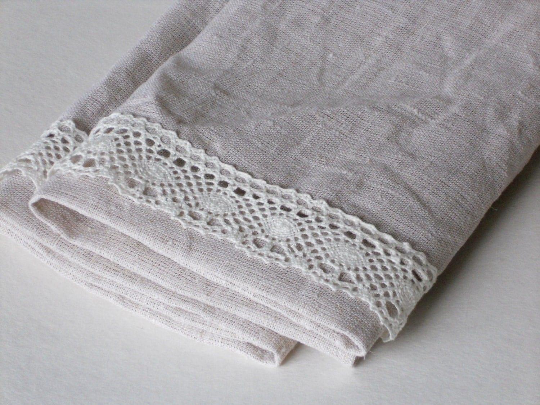cream linen hand towels guest towels tea towels set by. Black Bedroom Furniture Sets. Home Design Ideas