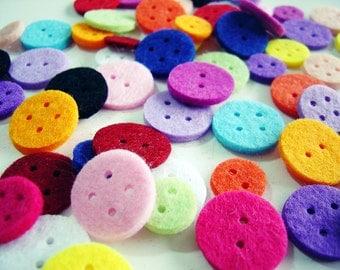36 Piece Thick Felt Button Set