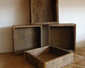 Rustic country primitive, lath wood box, altered art supply, rustic wedding tabletop, reclaimed wood