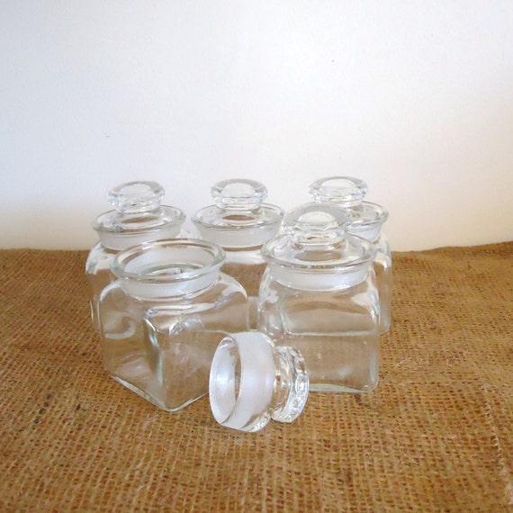 Glass Storage Jars Candy Jars Vintage Decor Candy Bar