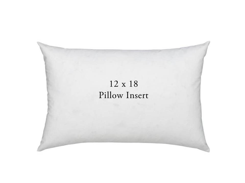 Down Decorative Pillow Forms : Lumbar Pillow Form 12x18 Premium Down Feather Blend