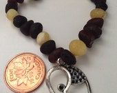 Baltic Amber bracelet with charm