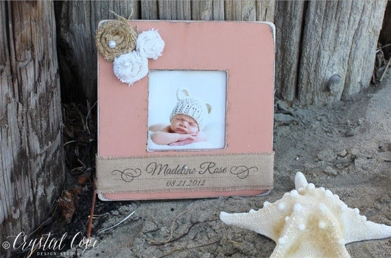 baby gift personalized picture frame baby shower birth baptism