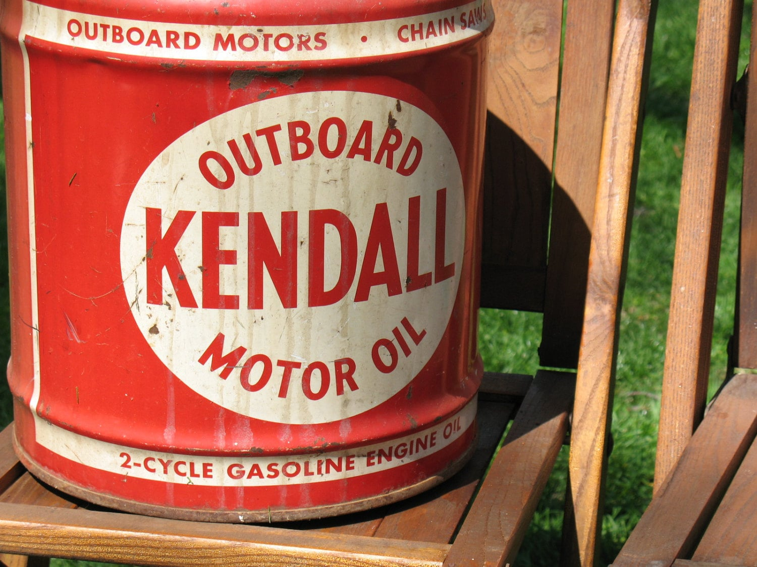 Vintage kendall outboard motor oil can bradford pennsylvania for Kendall motor oil history
