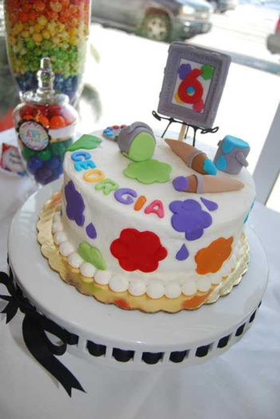Items similar to Fondant Edible Paint Party Cake Kit as Seen on Hostess with the Mostess ...