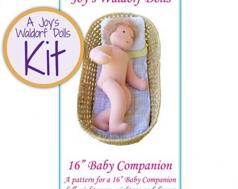 "Joy's Waldorf Dolls 16"" Baby Companion Doll Making Kit"