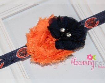 Chicago Bears Shabby Chic Headband