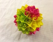 Pink, Yellow, and Green Paper Centerpiece